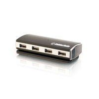 C2G 7 x USB 2.0 480Mbit/s Black,Silver interface hub