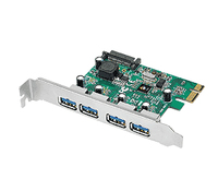 Siig 4-Port USB 3.0 PCIe Internal USB 3.0 interface cards/adapter