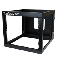 StarTech.com RK819WALLOH Wall mounted rack 8U 63.4kg Black rack