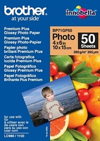 Brother BP71GP50 Premium Glossy Photo Paper Blanc papier photos