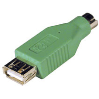 C2G USB to PS/2 Adapter USB PS/2 Green cable interface/gender adapter