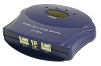 C2G 2-Port USB 2.0 Manual Switch 480Mbit/s Blue interface hub