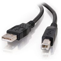 C2G USB 2.0 A/B Cable Black 1m 1m USB A USB B Black USB cable
