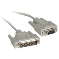 C2G DB25M to DB9F Null Modem Cable 25ft 7.62m networking cable