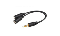 Add-On Computer Peripherals (ACP) HSMFF 0.2m 3.5mm 2 x 3.5mm Black audio cable