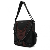 "Mobile Edge ME Mini Messenger - Black / Red 14.1"" Messenger case Black"