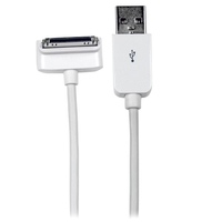 StarTech.com 2m, USB 2.0-A - 30pin 2m USB A Apple 30-p White mobile phone cable