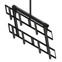 "Peerless DS-VWT955-2X2 55"" Black flat panel ceiling mount"