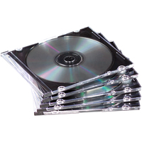 Fellowes 98316 Jewel case 1discs Black,Translucent