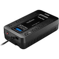 CyberPower EC850LCD Line-interactive 850VA 12AC outlet(s) Compact Black uninterruptible power supply (UPS)