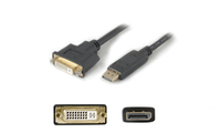 Add-On Computer Peripherals (ACP) DisplayPort - DVI Displayport DVI 29p Black cable interface/gender adapter