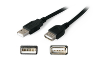 "Add-On Computer Peripherals (ACP) 6"" USB A - USB A 0.15m USB A USB A Male Female Black USB cable"