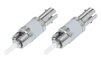 Add-On Computer Peripherals (ACP) 2PK FIBER OPTIC ATTENUATOR M/F ST Metallic,White wire connector