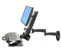 "Ergotron 200 Series Combo Arm 24"" Black"