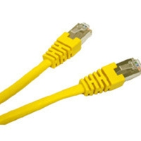 C2G 7ft Shielded Cat5E Molded Patch Cable 2.135m Yellow networking cable