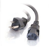 C2G 10ft Universal 18 AWG Power Cord 3.04m Black power cable