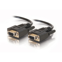 C2G 10ft DB9 F/F Cable - Black 3m Black serial cable