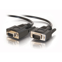 C2G 6ft DB9 M/F Extension Cable - Black 1.8m Black serial cable