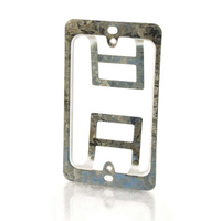 C2G Double Gang Wall Plate Mounting Bracket Silver