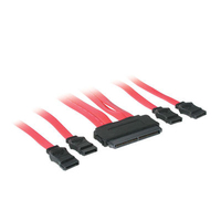 C2G 0.5m SAS 32-pin to 4 SATA 0.5m Red SATA cable