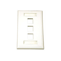 C2G 3-Port Multimedia Keystone Wall Plate - White White