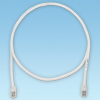Panduit Cat5e UTP 1ft 0.3m Cat5e U/UTP (UTP) White networking cable