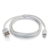 C2G 35498 1m USB A Lightning White mobile phone cable