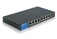 Linksys LGS308 Managed network switch Gigabit Ethernet (10/100/1000) Black,Blue network switch