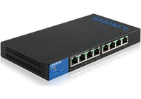 Linksys LGS308P Managed network switch Gigabit Ethernet (10/100/1000) Power over Ethernet (PoE) Black,Blue network switch