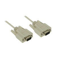 C2G 15ft DB9 F/F Null Modem Cable 4.57m Beige networking cable