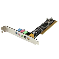 StarTech.com PCISOUND5CH2 Internal 5.1channels PCI audio card