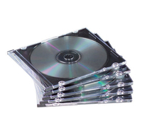 Fellowes NEATO Slim Jewel Cases - 100 pack 100discs Black