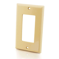 C2G Decorative Single Gang Wall Plate - Ivory Ivory