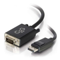 C2G 54332 1.83m DisplayPort VGA (D-Sub) Black video cable adapter