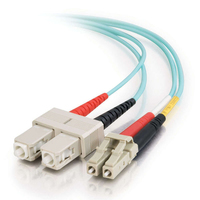 C2G 15m, LC - SC 15m LC SC Blue fiber optic cable