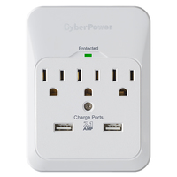CyberPower CSP300WUR1 3AC outlet(s) 125V White surge protector