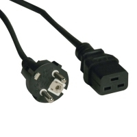 Tripp Lite P050-008 2.44m C19 coupler CEE7/7 Black power cable