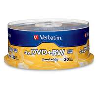 Verbatim DVD+RW 4.7GB 4X Branded 30pk Spindle 4.7GB DVD+RW 30pcs