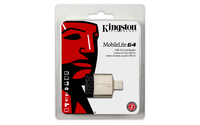 Kingston Technology MobileLite G4 USB 3.0 Noir, Gris lecteur de carte mémoire