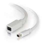 C2G 2.0m Mini DisplayPort M/F 2m Mini DisplayPort Mini DisplayPort Wit