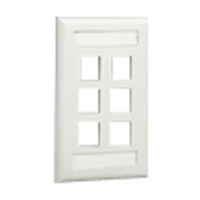 Panduit NK6FWHY White switch plate/outlet cover