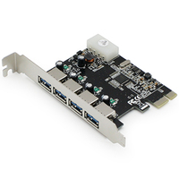 Add-On Computer Peripherals (ACP) ADD-PCIE-4USB30 Internal USB 3.0 interface cards/adapter