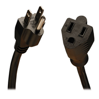 Tripp Lite 10ft, NEMA 5-15P - NEMA 5-15R 3.05m NEMA 5-15P NEMA 5-15R Black power cable