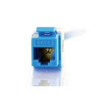 C2G Cat6 180º Keystone Jacks - Blue