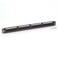 Belkin 24-Port CAT 5e Patch Panel Black network equipment chassis