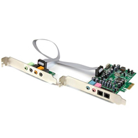StarTech.com PEXSOUND7CH Internal 7.1channels PCI-E x1 audio card