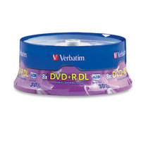 Verbatim DVD+R DL 8.5GB 8X Branded 30pk Spindle 8.5GB DVD+R DL 30pcs