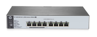 Hewlett Packard Enterprise 1820-8G-PoE+ (65W) Managed L2 Gigabit Ethernet (10/100/1000) Power over Ethernet (PoE) 1U Grey