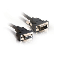 C2G 15ft Plenum-Rated Panel Mount HD15 M/F UXGA Extension Cable 4.57m VGA (D-Sub) VGA (D-Sub) Black VGA cable