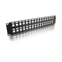 C2G Blank Keystone/Multimedia Patch Panel 16-Port 1U Patch Panel